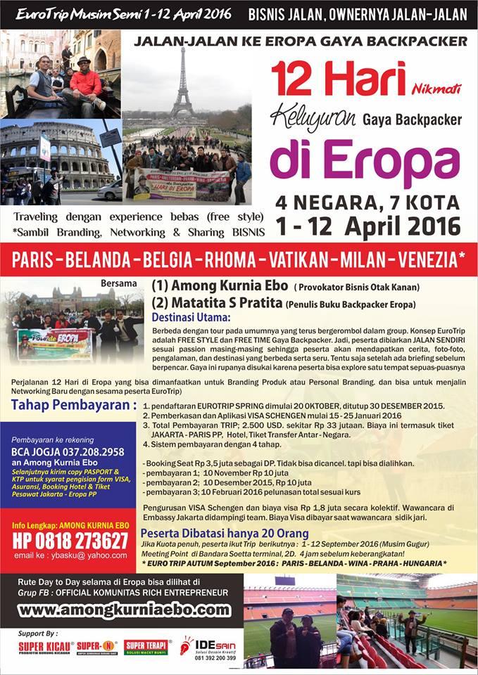 Paket Tour Eropa  Murah